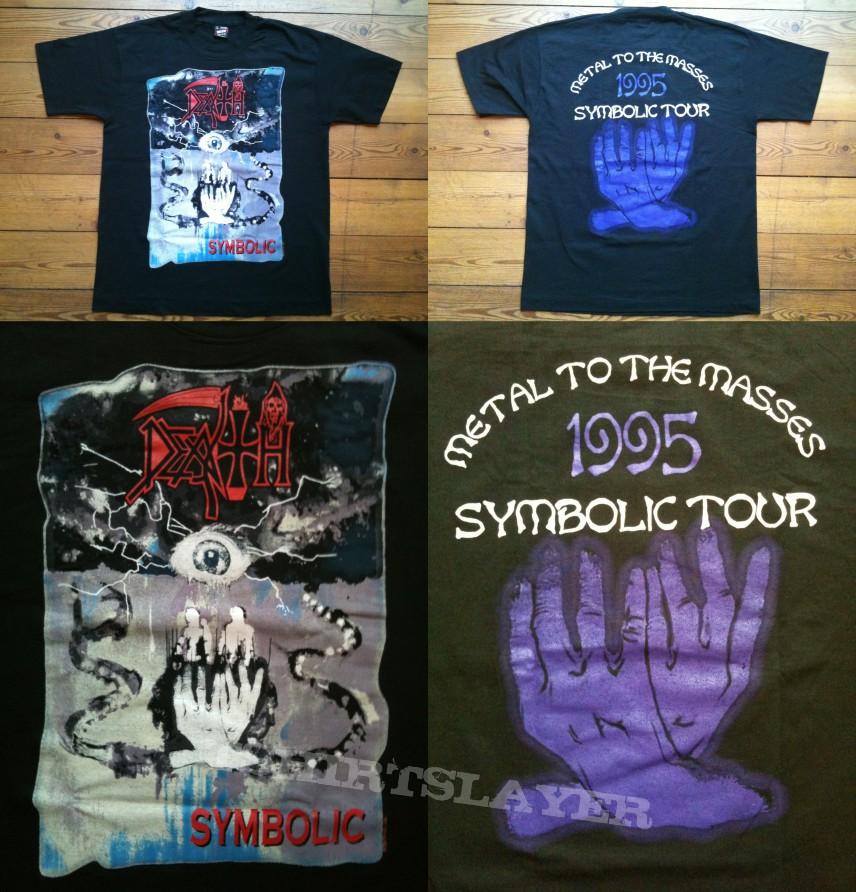 Death Symbolic Tour Shirt 1995 Tshirtslayer Tshirt And