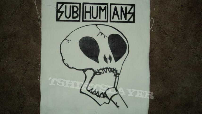 Subhumans Back Patch