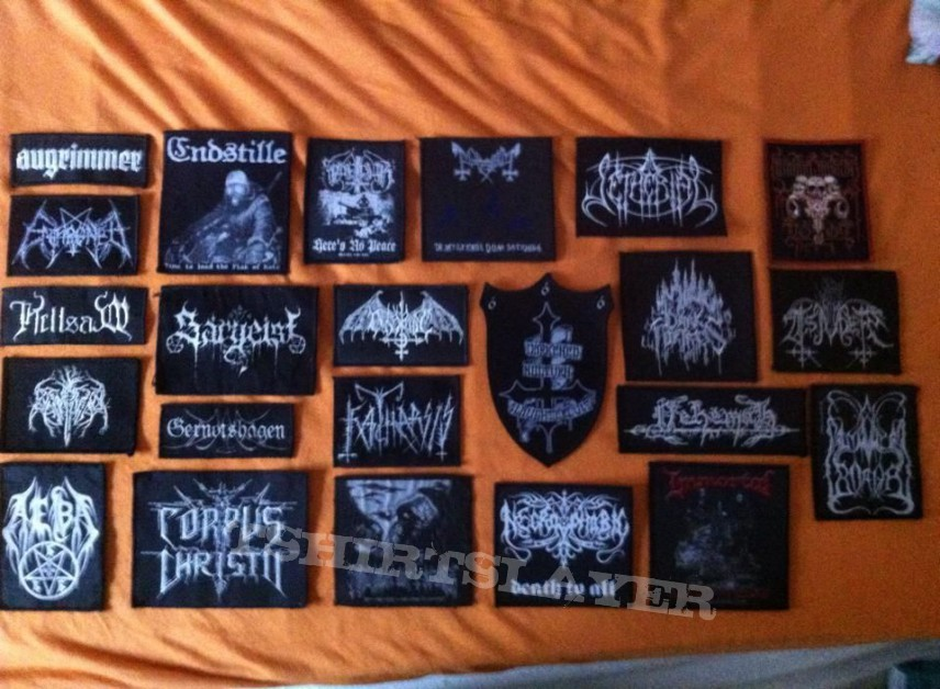 Mooore Black Metal Patches
