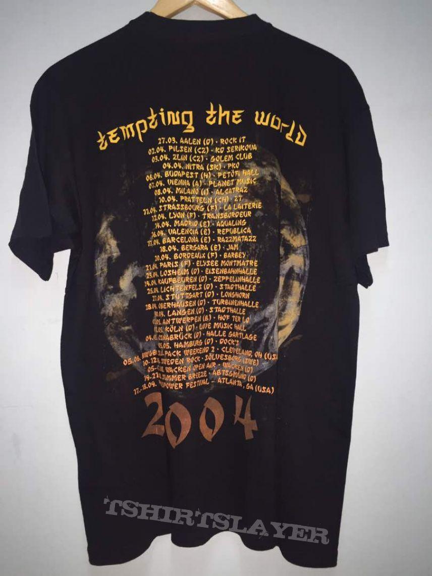 Rare!! BRAINSTORM Tempting The World Tour 2004 Tag FOTL Size L On Tag
