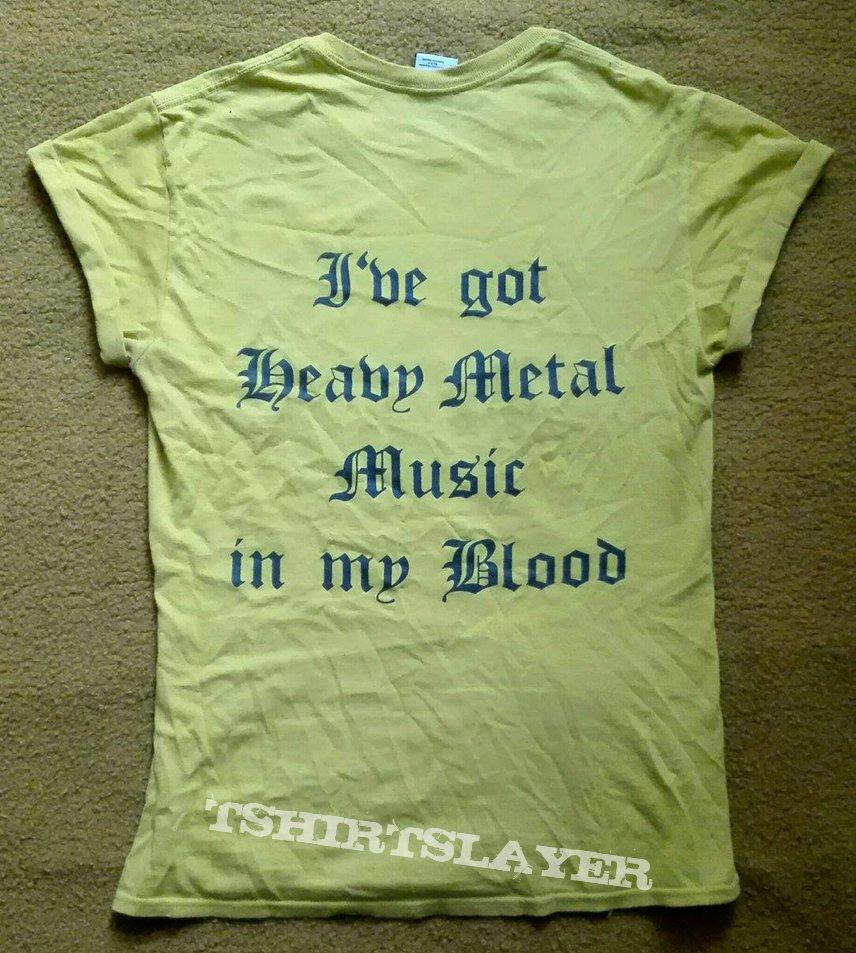HOLOCAUST - Heavy Metal Mania yellow shirt