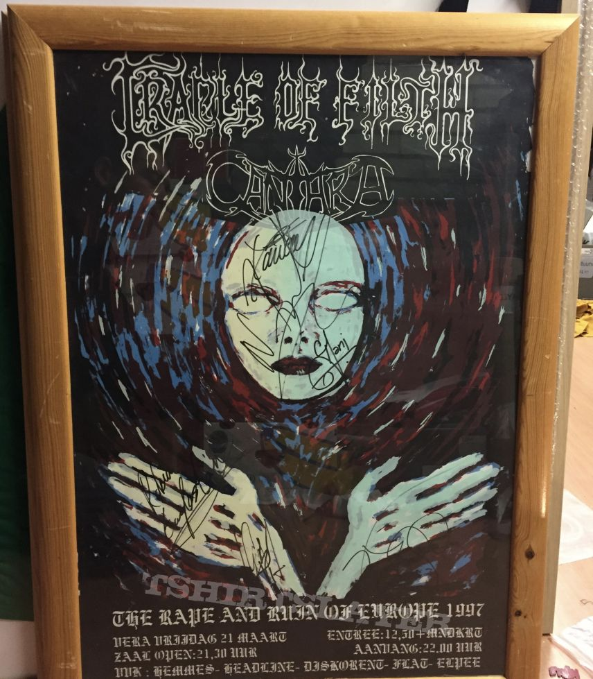 Cradle of Filth signed poster