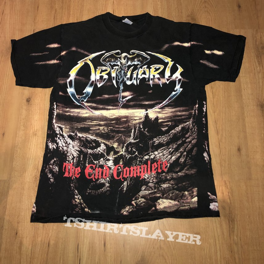 Obituary The end complete All over shirt