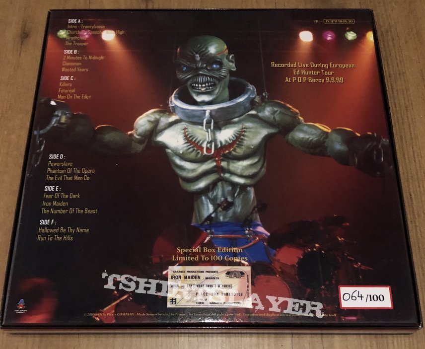 iron Maiden 3 lp boxset on coloured vinyl Back to the Front