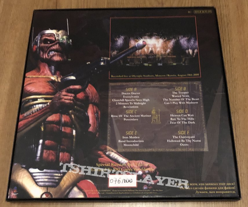 Iron Maiden Stranger in Moscow 3 lp boxset