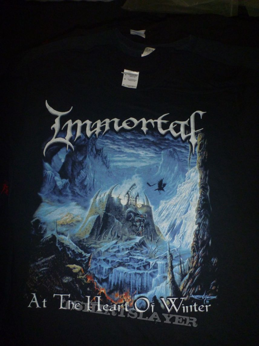 """Immortal """"At The Heart Of Winter"""" T-Shirt"""