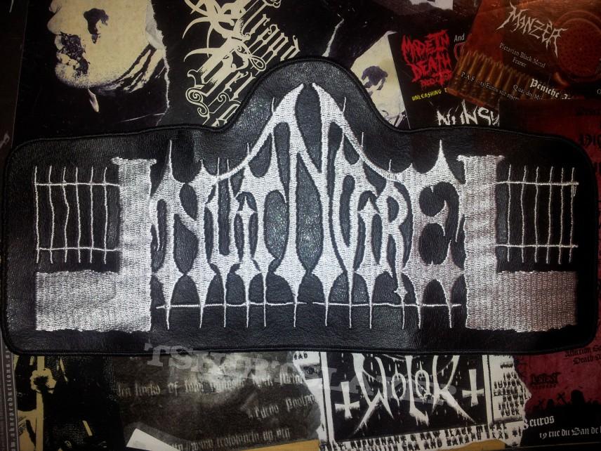 NUIT NOIRE official faux-leather back patch