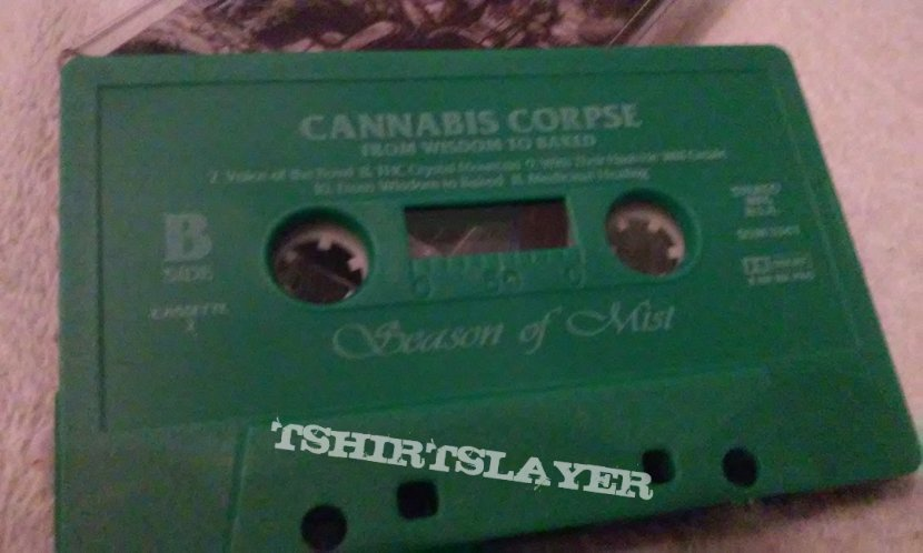 "Cannabis Corpse ""From wisdom to baked"" Cassette"