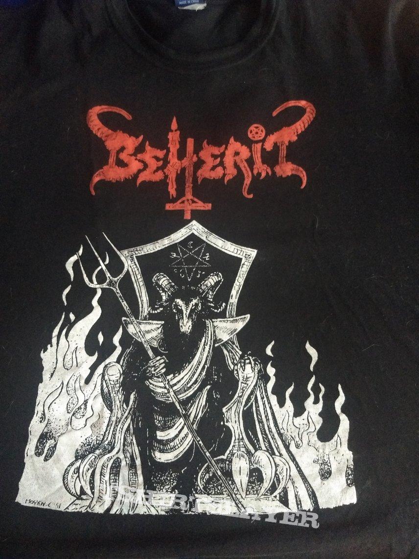 """T Shirt Beherit - """" Werewolf Semen And Blood  ( Bootleg ) """""""