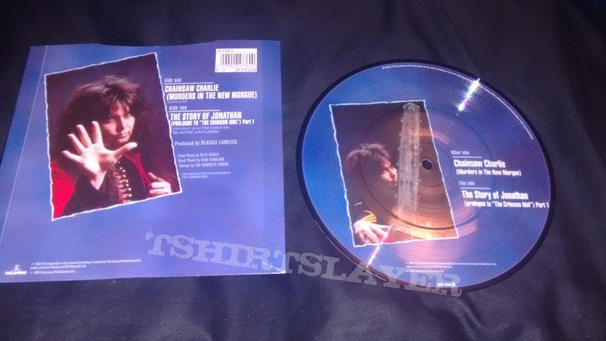 """Vinyl W.A.S.P. - Chainsaw Charlie (Murders In The New Morgue) 7"""""""