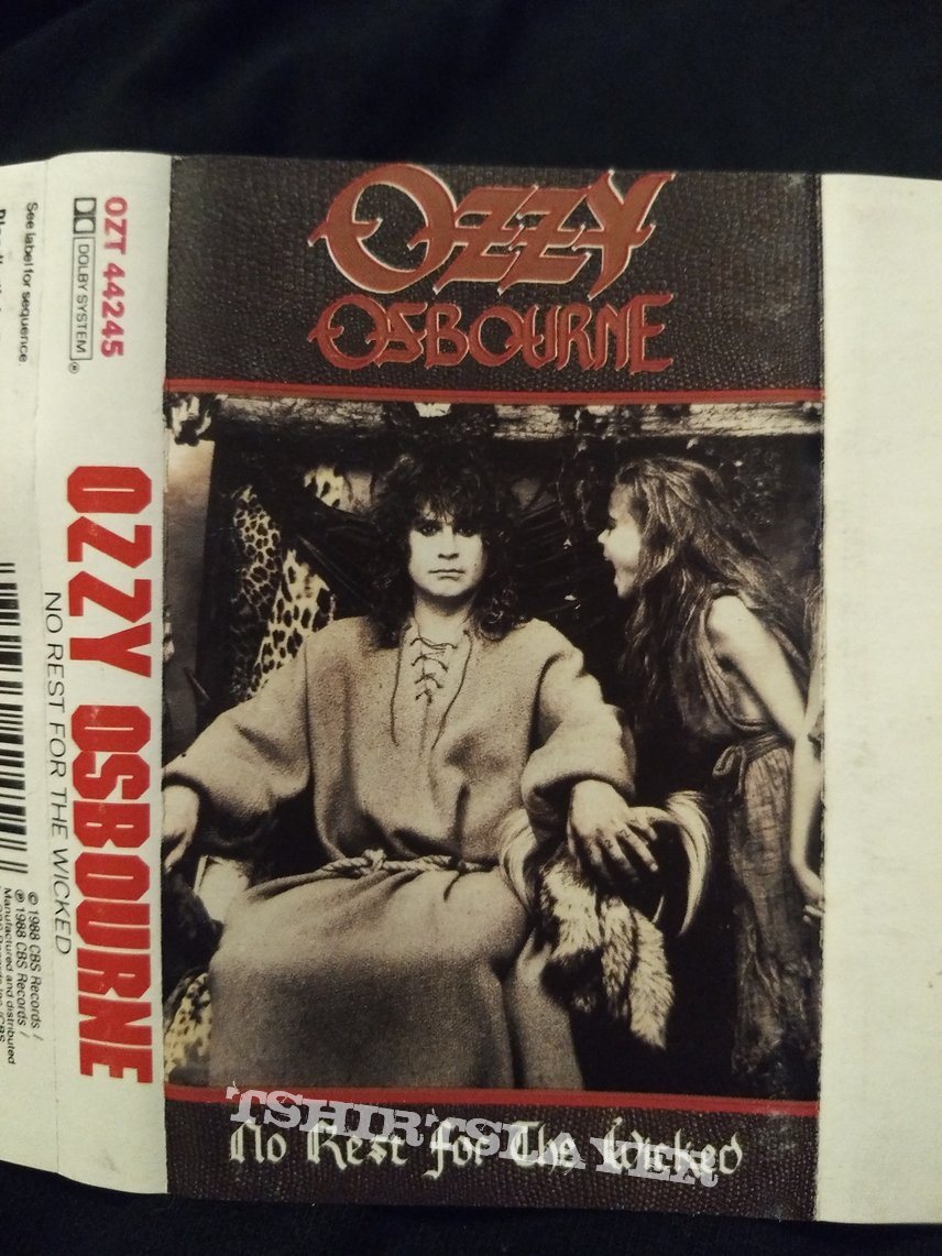 """Tape Ozzy Osbourne - """" No Rest For The Wiked """""""