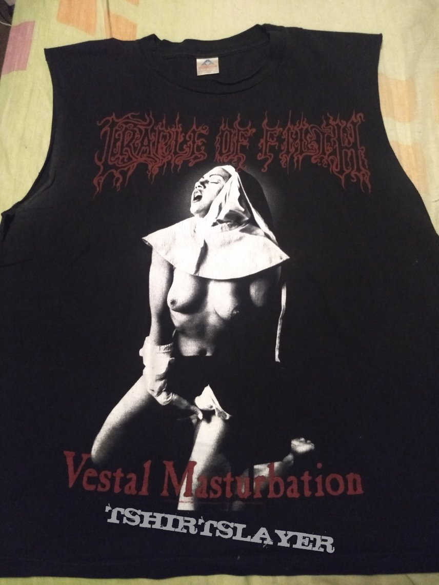 "T Shirt Cradle Of Filth - "" Vestal Masturbation """