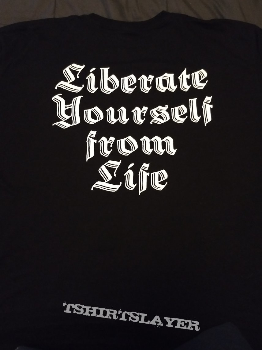 """T Shirt Impaled Nazarene - """" Liberate Yoursel From Life """""""