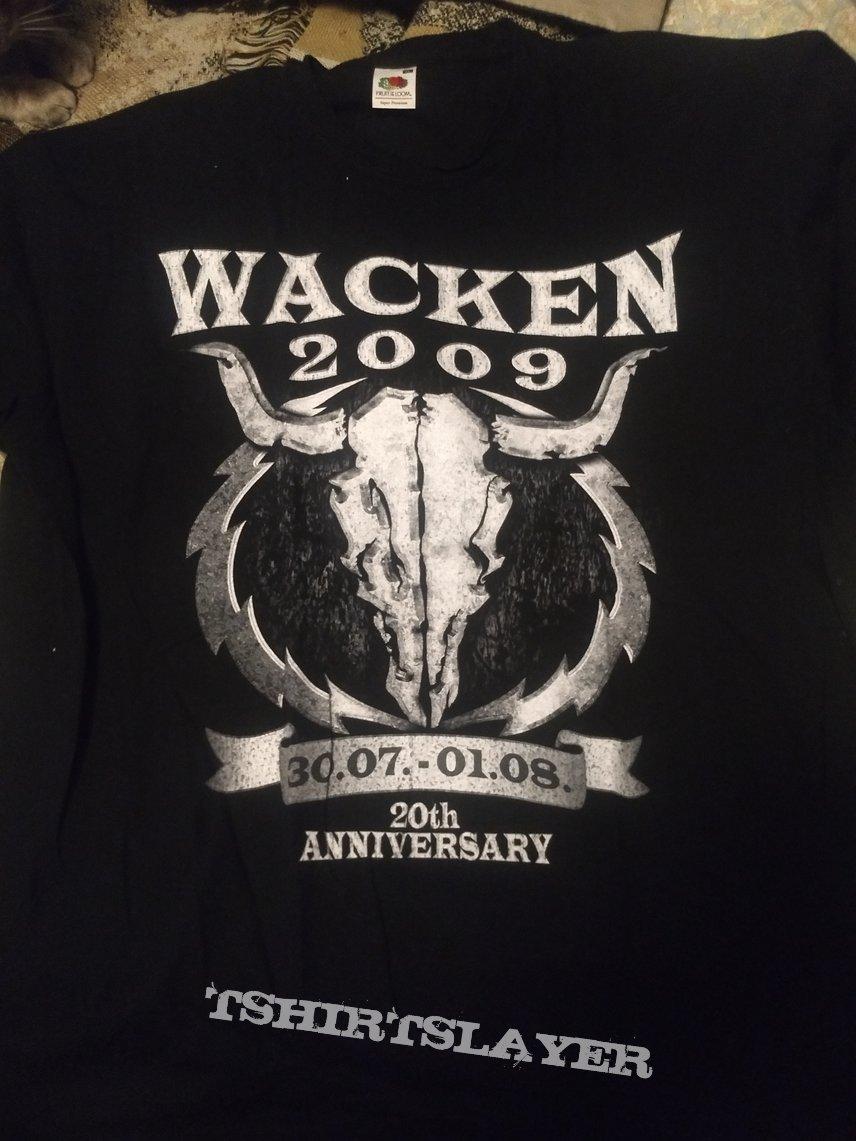 """T Shirt WACKEN - """" 20 Years Louder Than Hell 2009 """""""