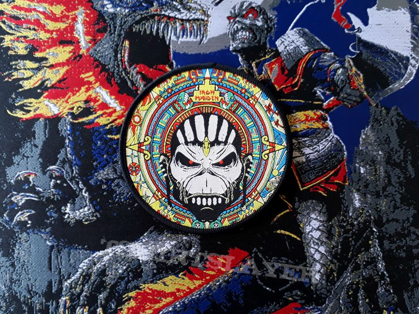 Iron Maiden The Book of Souls circle patch