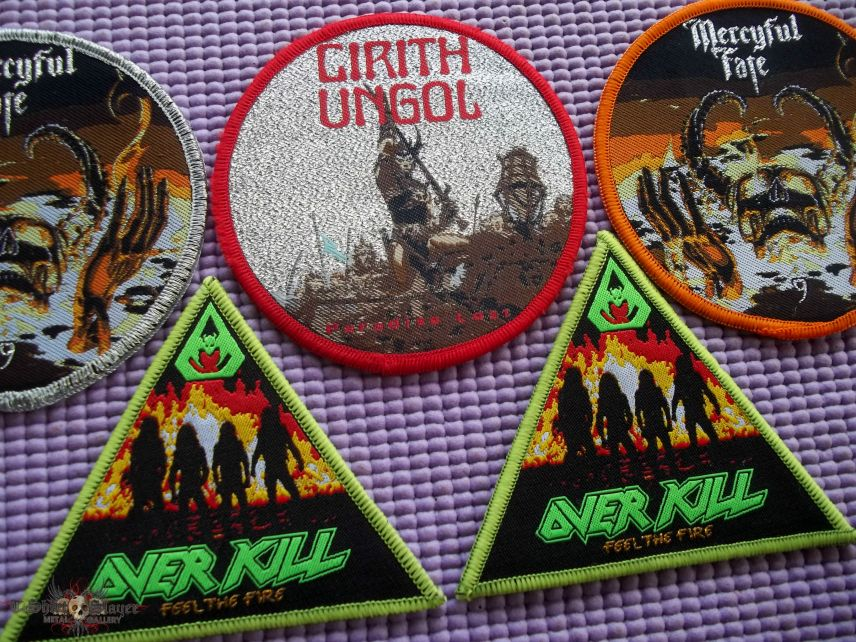 Mercyful Fate, Cirith Ungol & Overkill patches !!
