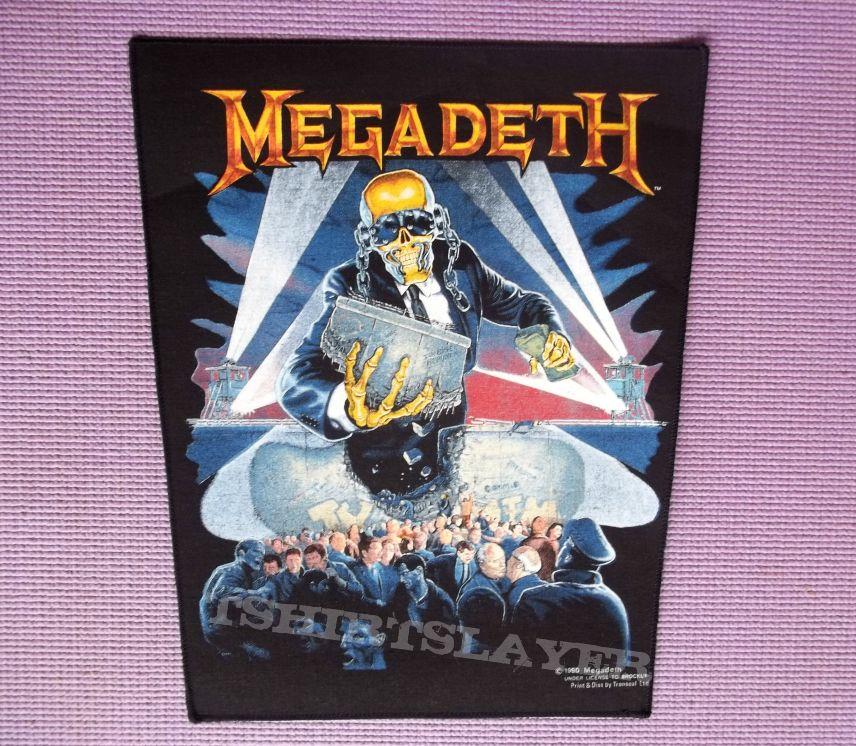 """Megadeth Official """"Berlin Wall"""" back patch !!"""
