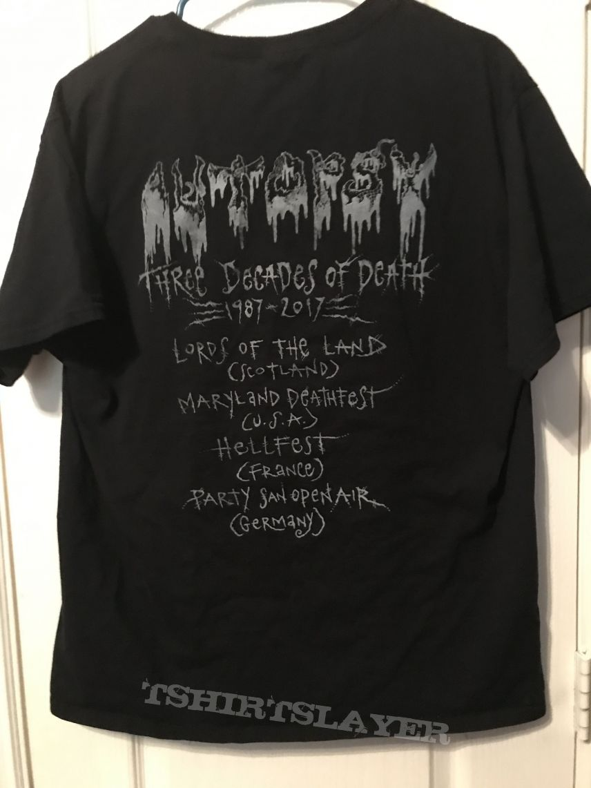 Autopsy Three Decades of Death Shirt