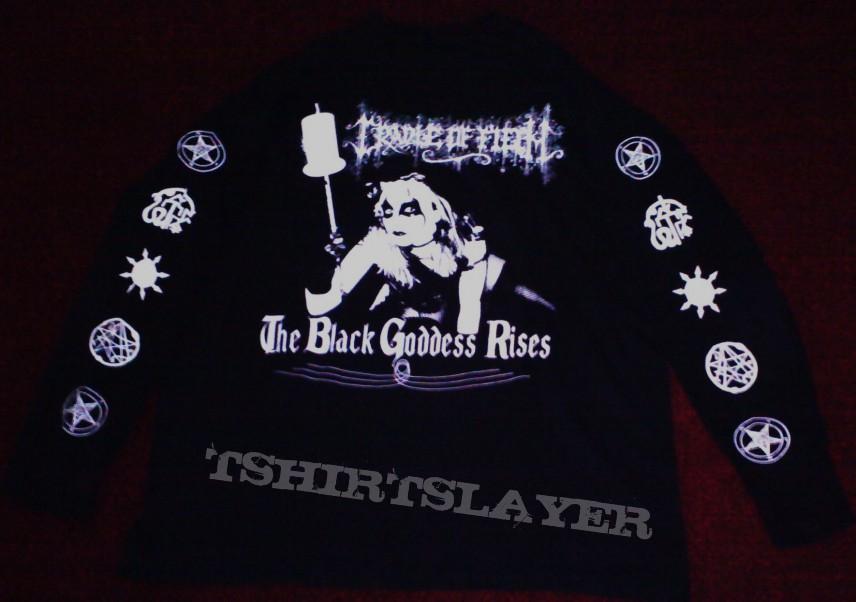 Cradle of Filth Black Goddess Rises/Jesus is a Cunt shirt