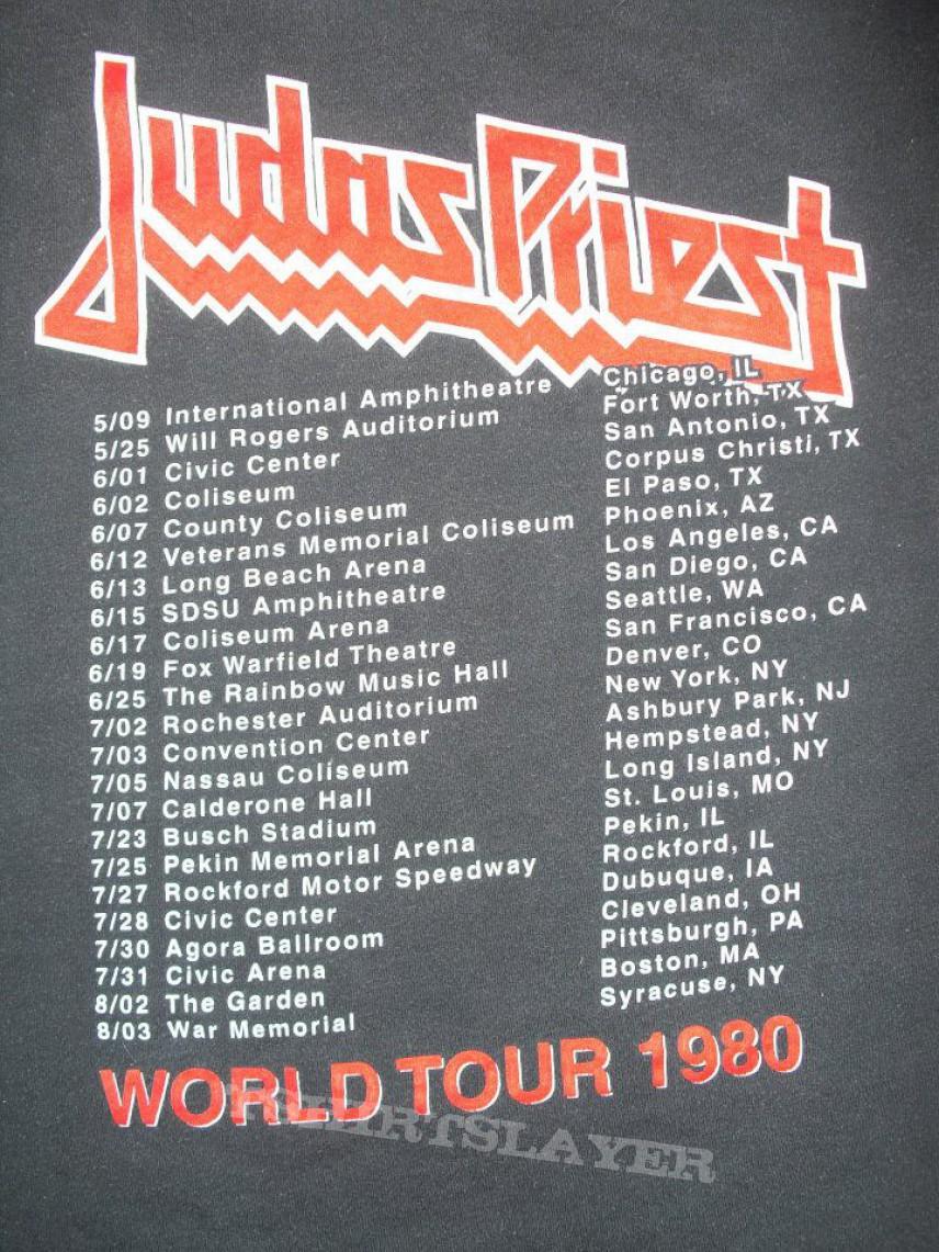 world tour 1980 british steel tshirtslayer tshirt and
