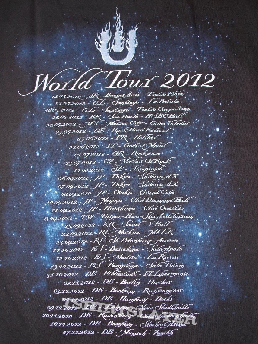 2012 Tour Shirt - dates