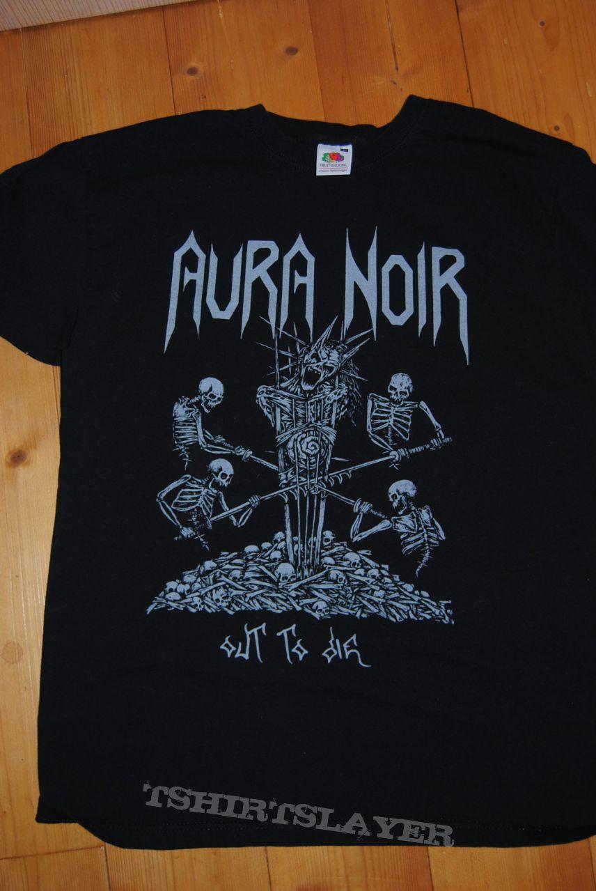 Aura Noir Logo Long Sleeve Black New T-shirt Rock Band Shirt