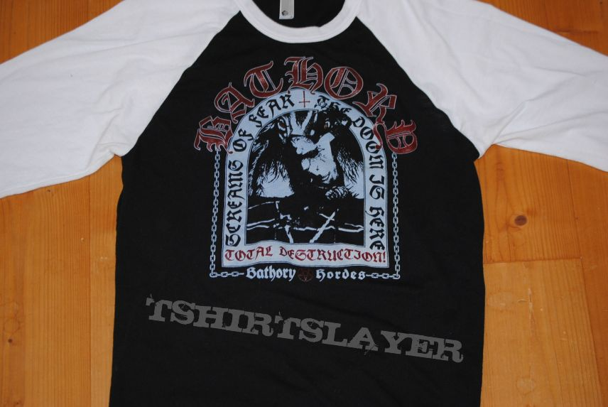 Bathory Total Destruction Baseball Shirt