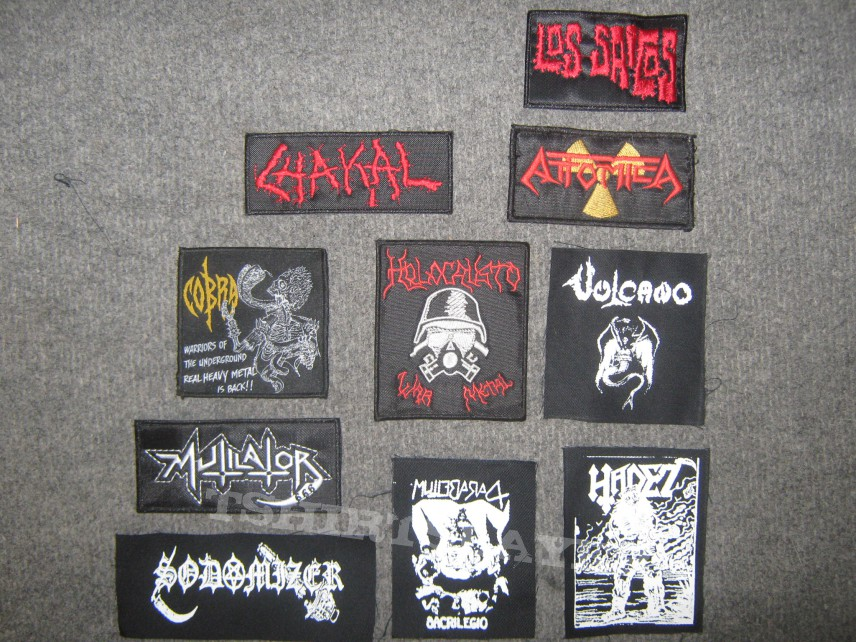 """Patches for my  """"only southamerican bands"""" vest."""