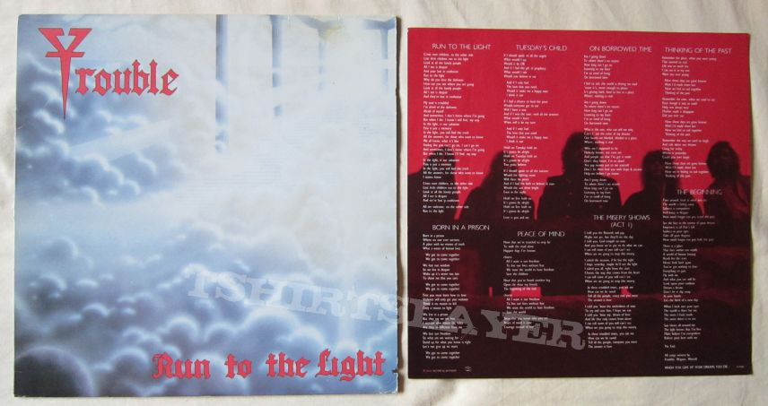 TROUBLE Run to the light LP 1987