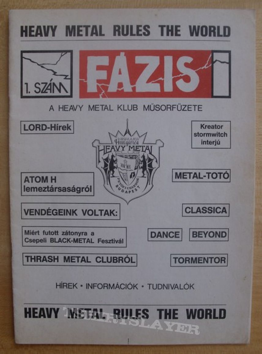 Old hungarian fanzines and metal newspapers
