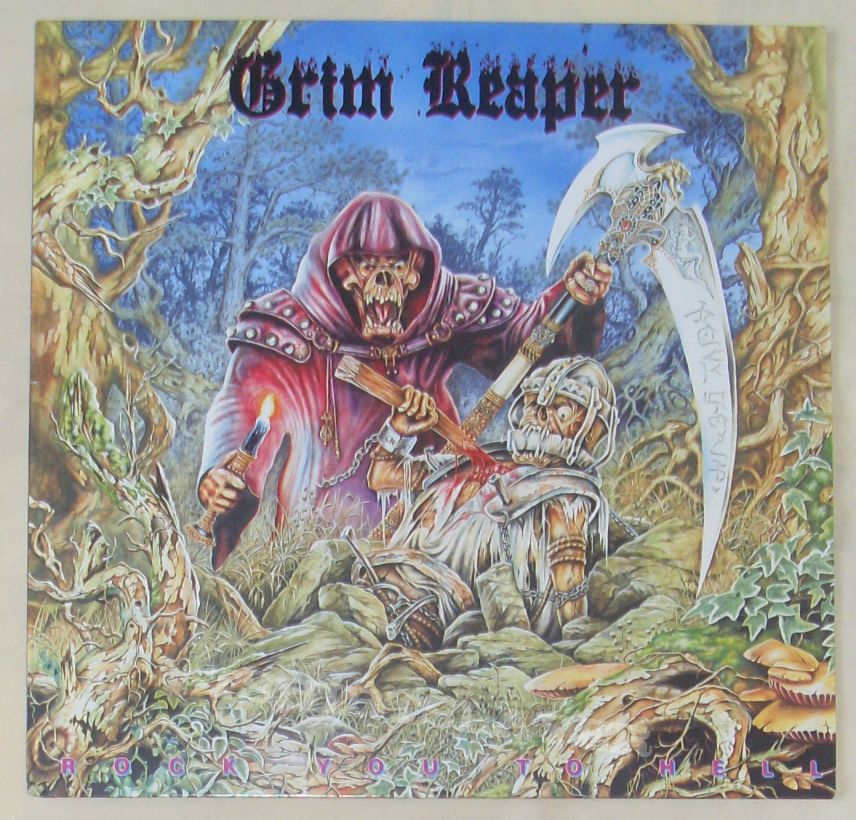 GRIM REAPER Rock you to hell LP 1987