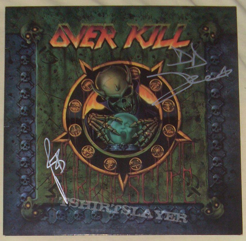 Signed OVERKILL vinyls!