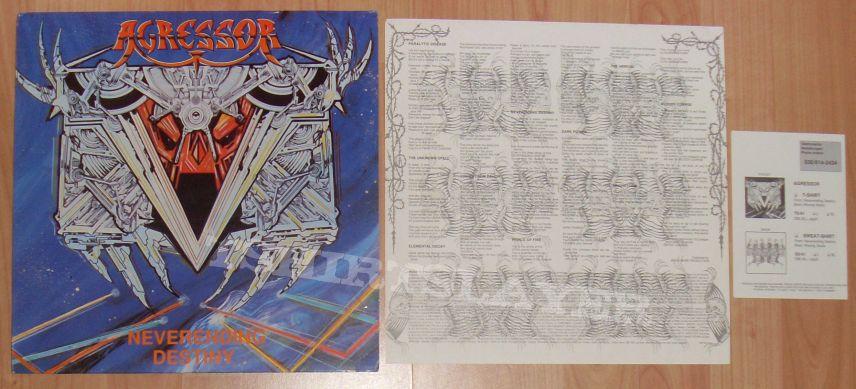 AGRESSOR neverending destiny LP 1990
