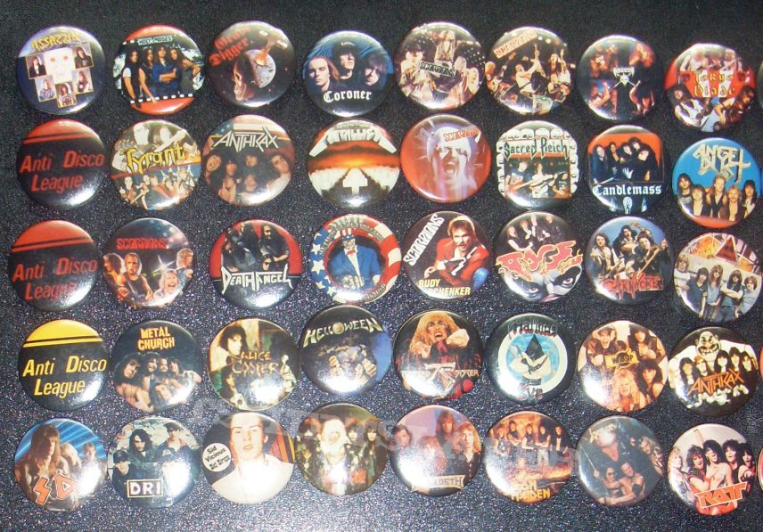 My vintage heavy thrash buttons part 2.