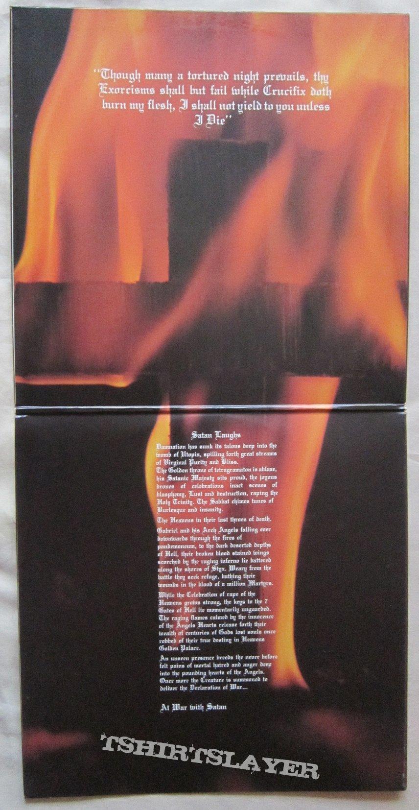 VENOM At war with satan French press LP 1984