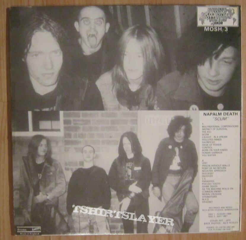 Napalm Death - Scum LP 1987 LP Gold press