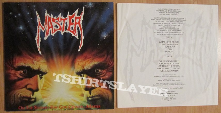 MASTER - On the seventh day god created LP 1991