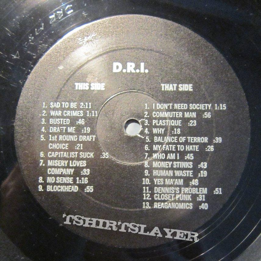 D.R.I. Dirty Rotten LP US press 1983
