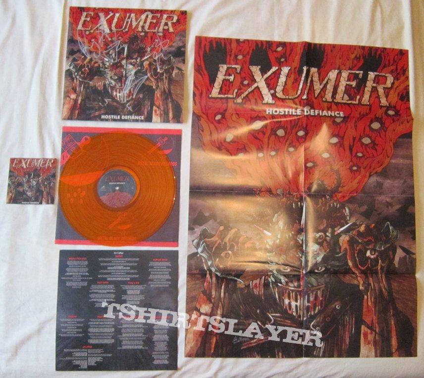 EXUMER Hostile defiance - orange marbled vinyl