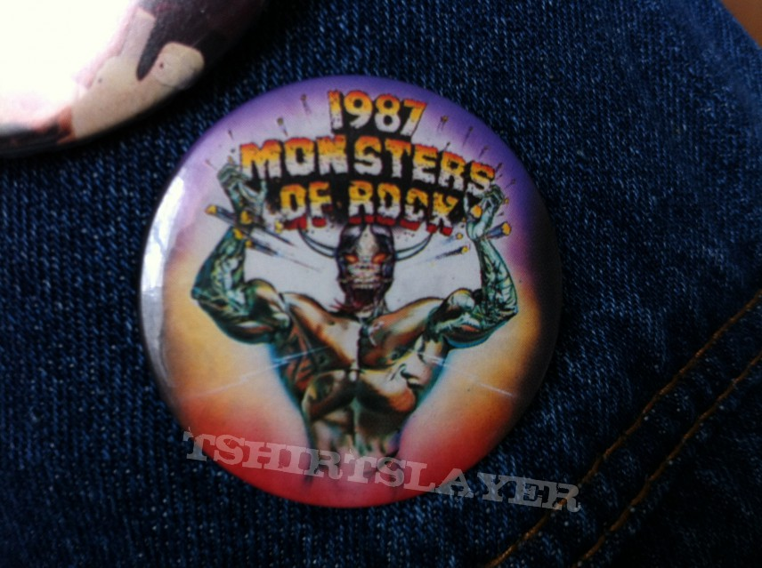 Monsters of Rock 1987 Pin