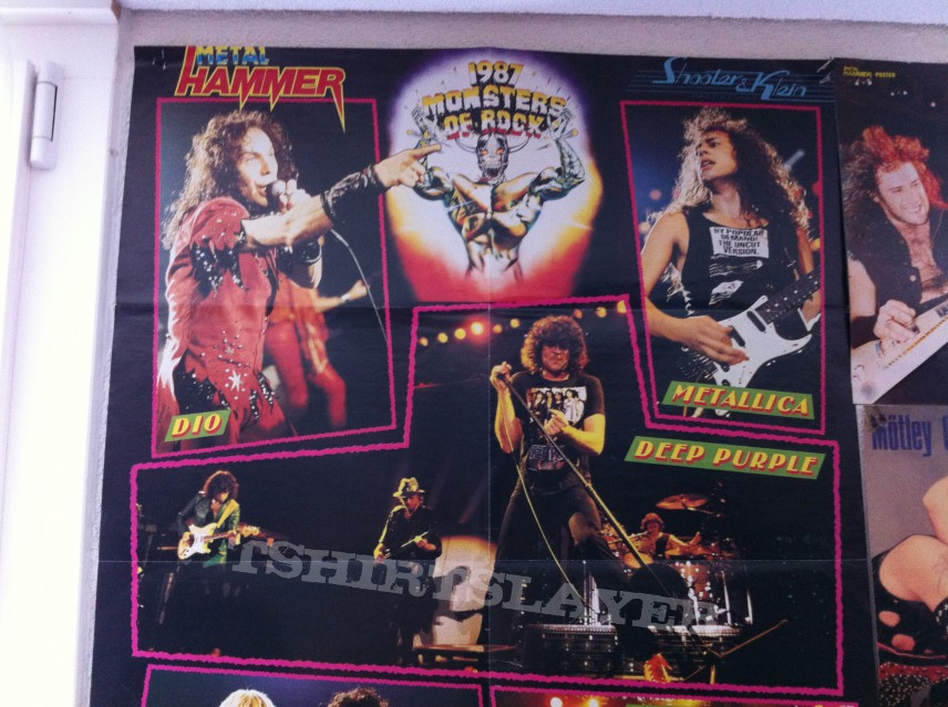 Monsters of Rock 1987 original vintage Poster
