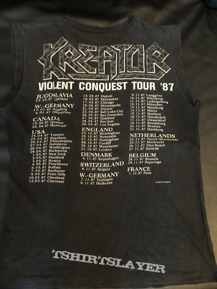 KREATOR - Terrible Certainty/Violent Conquest Tour 1987 Muscle Shirt