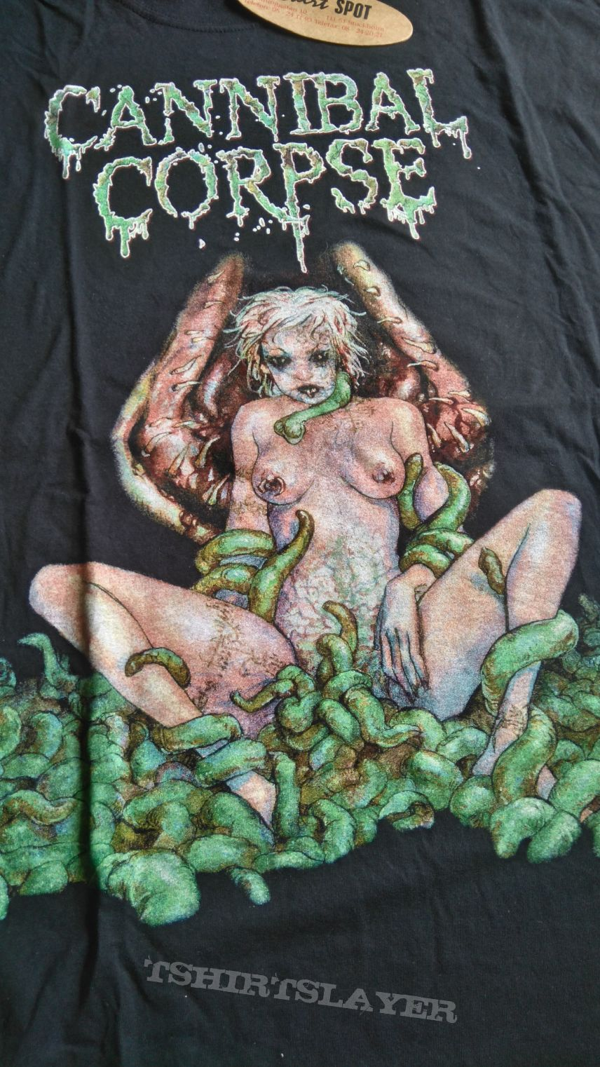 Cannibal Corpse Worm Infested Original unused banned back