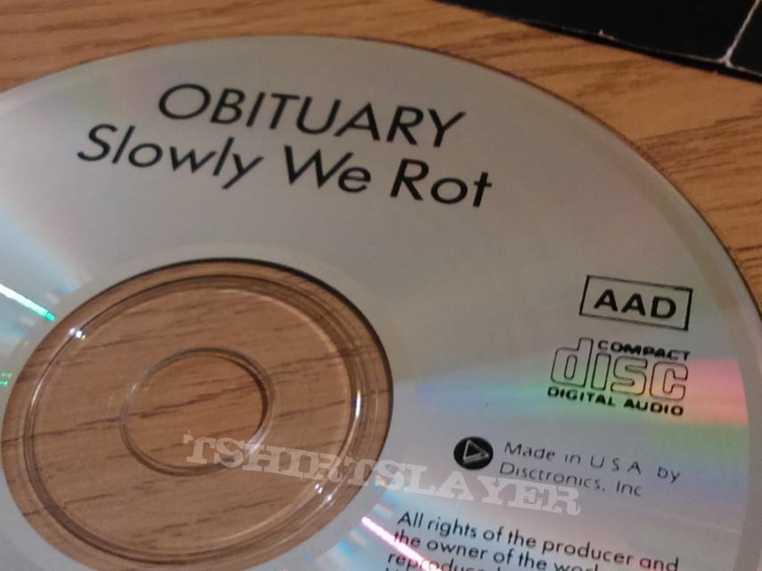 Obituary Slowly we rot TRUE USA 1st  press MADE BY DISTRONICS.