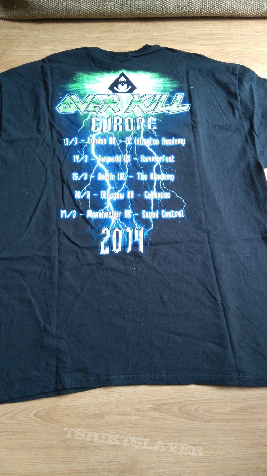 Overkill European Tuor 2014 Official Tshirt