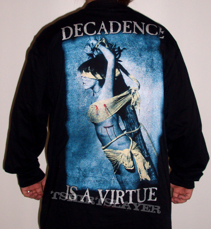 ls cradle of filth decadence is a virtue tshirtslayer. Black Bedroom Furniture Sets. Home Design Ideas