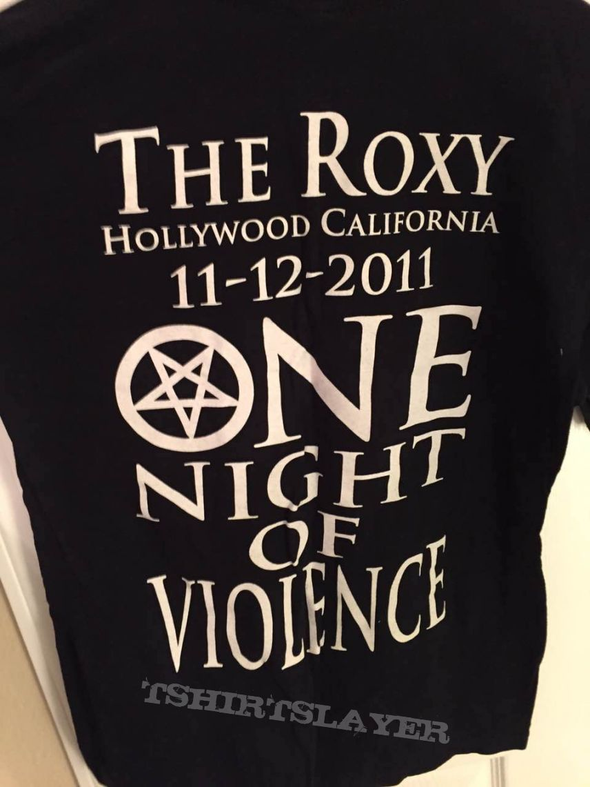 Exodus The Roxy event shirt 2011