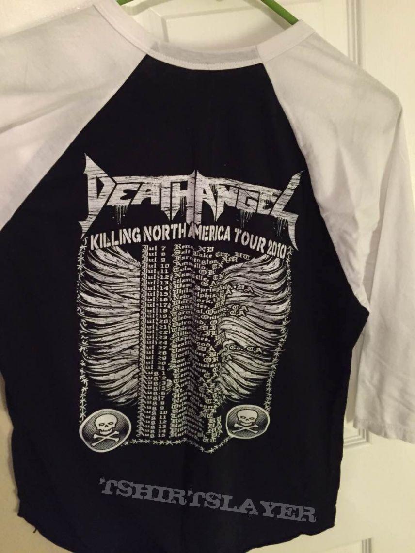 death angel 2010 tour shirt jersey