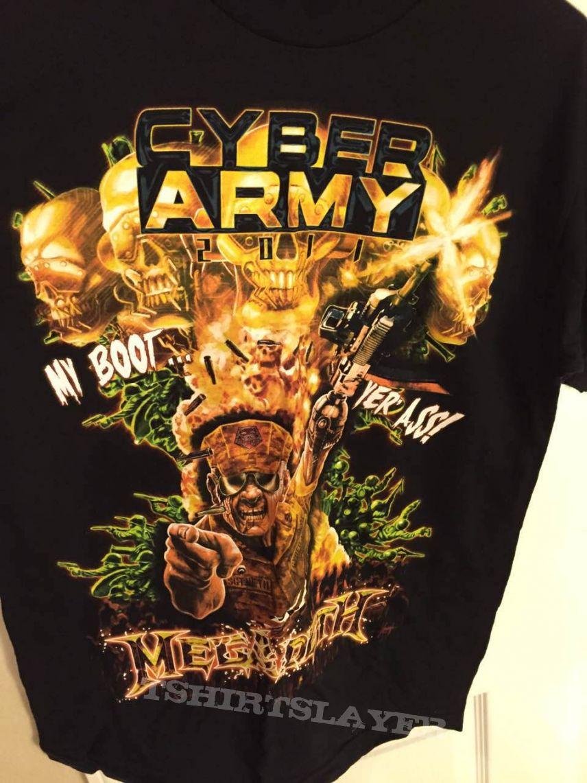 megadeth 2011 fan club shirt
