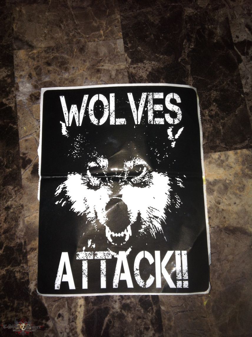 Wolves Attack Sticker